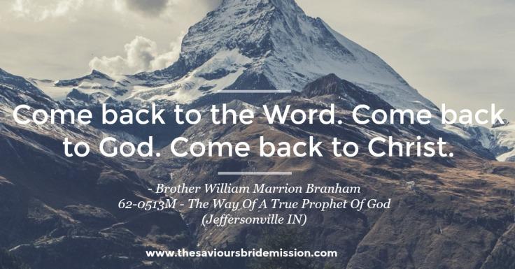 The Way Of A True Prophet Of God
